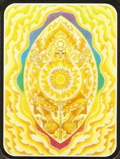 Power Chakra ~ I Act ~ shine our golden light resplendent as the Sun from our power center connect to the One fearless freedom is the gift of our inner fire with joy and integrity we will guide and inspire ~ poem painting Mara Berendt Friedman Mantras Chakras, Chakras Reiki, Les Chakras, Chakra Art, Chakra Healing, Chakra Painting, Sacral Chakra, Sanskrit, Éphémères Vintage