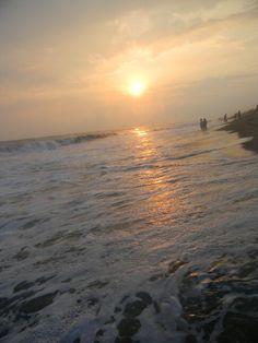 Bellos atardeceres en las playas de monterrico, Guatemala