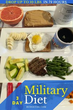 Drop up to 10lbs in 72 hours with the Military Diet