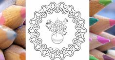 Mandala s kyticou kvetov