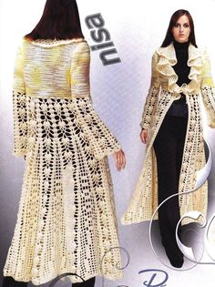 Crochet long jacket ♥LCC♥ With diagram
