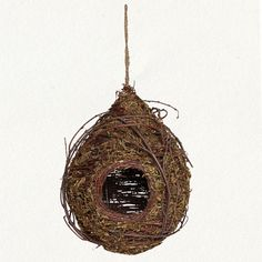 Terrain green moss birdhouse. Wicked beautiful, but hard to clean out when the guests leave... $34
