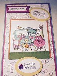 From The Herd Get Well Card. Stampin Up.