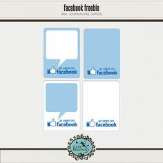 Project Life Facebook Freebie...I don't  really even look at facebook but this would be a cute print out
