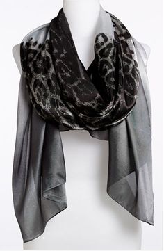 Designer Clothes, Shoes & Bags for Women Leopard Scarf, Lady Gaga, Womens Scarves, Nordstrom, Clothes, Collection, Shopping, Black, Style