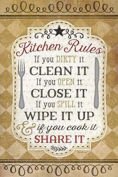 size: Art Print: Kitchen Rules by Jennifer Pugh : Artists