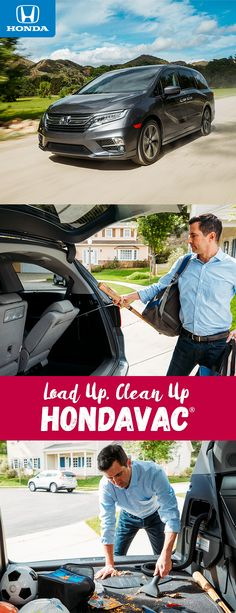 Make the journey to your next destination more enjoyable and a little cleaner with the all-new 2018 Odyssey with available HondaVac.