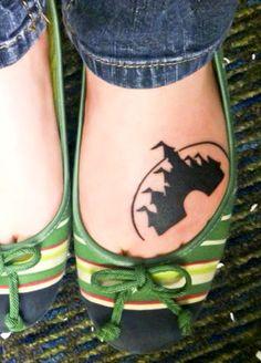 Disney Castle Wrist Tattoo Disney tattoos castle on foot Feather Tattoos, Foot Tattoos, Sleeve Tattoos, Think Tattoo, I Tattoo, Wrist Tattoo, Trendy Tattoos, New Tattoos, Tatoos