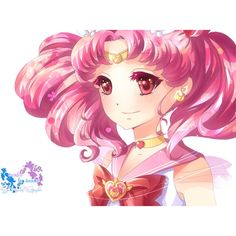 Render chibiusa sailor chibi moon bishoujo senshi cheveux court... ❤ liked on Polyvore featuring sailor moon and anime