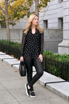 Britt + Whit: Polka Dots + Leather