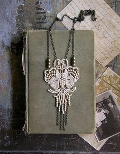 lotus lace necklace