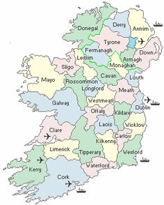 Free Printable Map Ireland