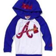 The pictures fuzzy. :( Victoria's Secret PINK Atlanta Braves Baseball Hoodie. Clearance $38.99