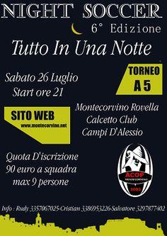 Night Soccer 6 - Torneo di Calcio a 5 - Tutto in una Notte