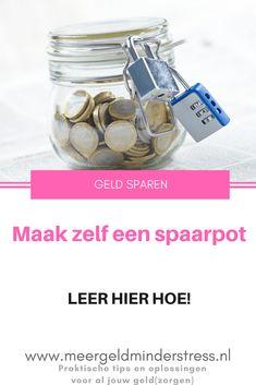 Hoe maak je een spaarpot? Leuk zelf aan de slag met je kinderen! En... het is zo klaar.  - Meer geld, minder stress    #spaarpot #spaarpotmaken #DIY #sparen #geldsparen