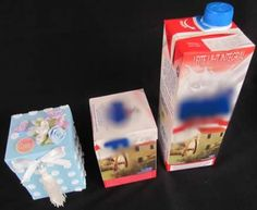From milk box to gift box 1 Recycling, Tetra Pak, Milk Box, Upcycle, Reuse, Diy And Crafts, Projects To Try, Scrap, Packaging