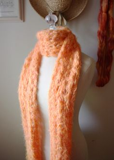Knitting Pattern - Chunky Lace Scarf