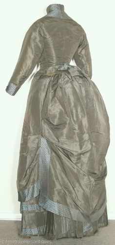 All The Pretty Dresses: 1880's Sage Green Bustle Dress