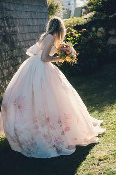 幻想的可愛さ*水彩画風花柄ドレスに恋をした♡