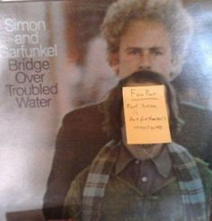 Garfunkel's stache is coming in thick
