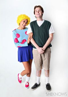 Doug and Patti Mayonaise costume Visit your local Goodwill for all your Halloween Shopping! www.goodwillvalleys.com/shop