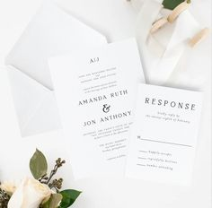 Wedding Invitation Printable Invitation Suite - Mandy Collection