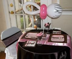 pink zebra... baby shower theme