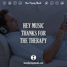 Hey music, thanks for the therapy.  #music #quotes #quote #thanks #therapy #edmfamily #trancefamily #plur #love