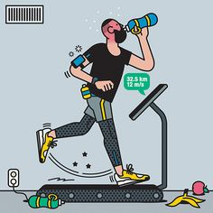 Its Nice That The people you cant avoid at the gym by illustrator Rami Niemi Illustration Ligne, People Illustration, Line Illustration, Character Illustration, Graphic Design Illustration, Map Illustrations, Magazine Illustration, Character Sketches, Fitness Workouts