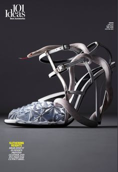 Fendi, shoe, editorial, kyle, marie claire, mitchell feinberg, snake, accessories, kyle anderson, pvc, clear,
