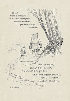 You are braver than you believe. - Winnie the Pooh Quotes - classic vintage style poster print based on original drawing by E. Winnie The Pooh Quotes, Piglet Quotes, Baby Quotes, Believe Quotes, What Day Is It, Christopher Robin, Pooh Bear, Disney Quotes, Style Vintage