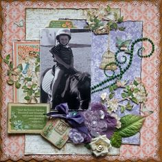 Sassy Scrappers- Riding the Pony Graphic 45 Secret Garden papers