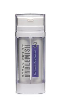 UNBLEMISH Dual Intensive Acne Treatment Dual chamber delivery system Kills bacteria and stops breakouts.
