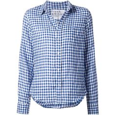 Frank & Eileen gingham check shirt (265 CAD) found on Polyvore featuring tops, blue, blue shirt, checked shirt, blue top, blue checked shirt and checkered shirt