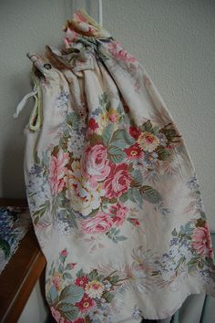 laundry bag ♥ Shabby Chic Romantic Cottage <3