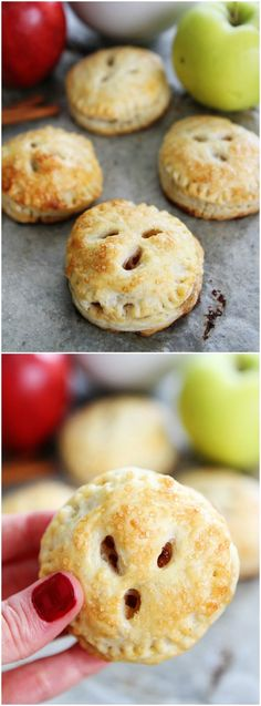 Apple Hand Pies Recipe on twopeasandtheirpod.com These delicious and cute little pies are fun to make and fun to eat! The perfect fall dessert!