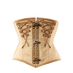 VG-113 Ivory Underbust with Delicate Gold Detailing - Vintage Goth