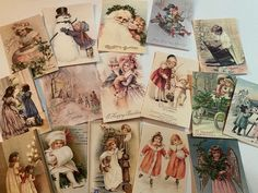 Item#32 Vintage inspired Christmas or Valentine paper doll gift tag ornament