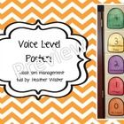Voice Level Scale:  0-No voice  1- Whisper  2- Conversation  3-Presentation  4-Outside    Use this classroom management tool in your classroom to remind s...