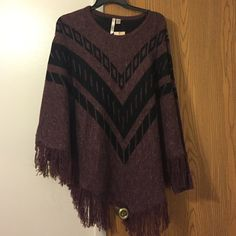 Zinfandel sweater poncho 3XL-4XL New with tag By design  Sweaters Shrugs & Ponchos