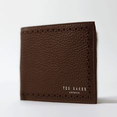 Silver Fabric, Leather Brogues, Designer Wallets, Leather Bifold Wallet, Ted Baker, Take That, Men, Guys, Designer Purses