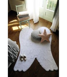 Silhouette Angel Wings Rug - perfect addition to the nursery!