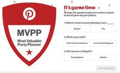 Pinterest created one thing to do with the eight million soccer social gathering concepts and fifty eight million soccer concepts customers have saved previous to Tremendous Bowl LI Feb. 5.  The social community developed the Pinterest MVPP: Most Valuable Party Planner microsite sponsored by Sargento which allows customers to create customized boards with Tremendous Sunday recipes ideas and style recommendations simply by answering a number of questions.  Guests to the Pinterest MVPP are…