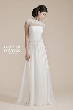 abiti-sposa-boho-leggeri Mod. Chiara Couture Hayez Atelier http://www.couturehayez.com/collezione-leggerezza-14-236.html foto #erikadivito