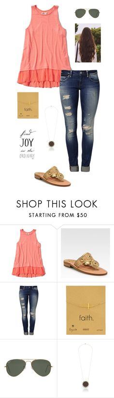 """I wish I had my polyvore closet!"" by gabbbsss ❤ liked on Polyvore featuring Hollister Co., Jack Rogers, Mavi, Dogeared, Ray-Ban and House of Harlow 1960"