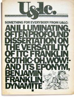Herb Lubalin, U&lc vol. 4, no. 1, March 1979