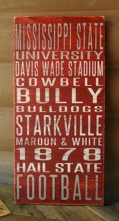 Mississippi State University Distressed Decorative Sign