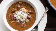 "GUMBO YA-YA  by: Emeril Lagasse    ""Add a bit of rice and some green onions, and there you go."""
