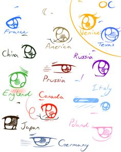 Hetalia Chibi Style Eyes .:PRACTICE:. by xXluv-bug004Xx.deviantart.com on @deviantART