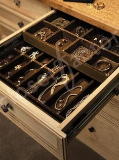 Closet Design...Yes To The Jewelry Drawers